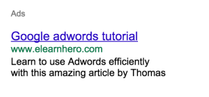 Google adwords tutorial, elearnhero